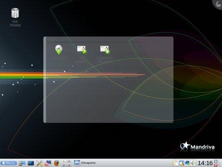 Nastartované live CD Mandriva Linux 2009