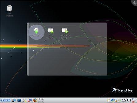 Instalační ikona na live CD Mandriva Linux One 2009